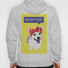 Political Pups - Register To Vote Corgi Hoody
