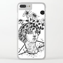 SANE IS BORING Clear iPhone Case