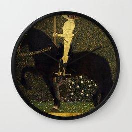 Gustav Klimt - Golden Rider Wall Clock