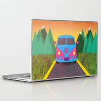 volkswagon Laptop & iPad Skins featuring Das Auto by Daizy Jain