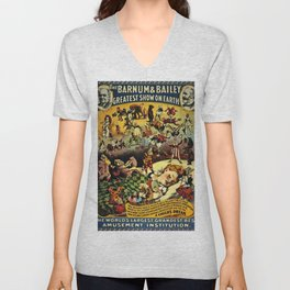 1890 Barnum and Bailey Greatest Show on Earth A Child's Dream Vintage Poster Unisex V-Neck