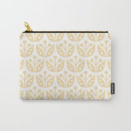Mid Century Modern Flower Pattern 731 Cream Yellow Carry-All Pouch
