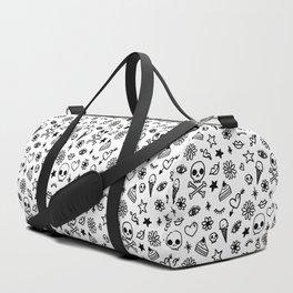 Doodle Pattern Duffle Bag