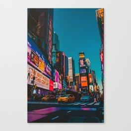 City Lights NYC (Color) Canvas Print