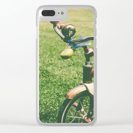 old children's tricyclevintage picture style Clear iPhone Case
