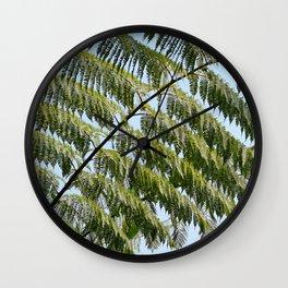 Tree fern branches Wall Clock