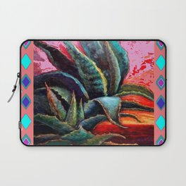 WESTERN PINK CORAL COLOR DESERT  BLUE AGAVE Laptop Sleeve