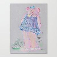 teddy bear Canvas Prints featuring teddy bear by Artemio Studio