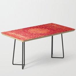 N69 - Oriental Heritage Vintage Orange Traditional Moroccan Farmhouse Style Artwork Coffee Table
