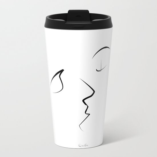 Kiss/beso/kuss/baiser/beijo/ Metal Travel Mug