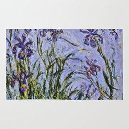 Claude Monet  -  Iris Mauves Rug