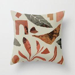 Plant Forage & Form Study Throw Pillow