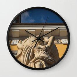 Statue Admirality Sankt Petersburg Wall Clock