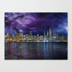 Spacey Chicago Skyline Canvas Print