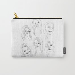 Crying Face Lindsay Lohan Carry-All Pouch