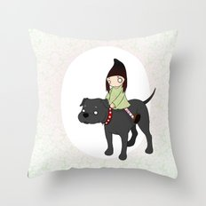 Me and my Boy Throw Pillow