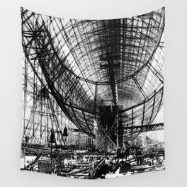 Airship under construction Wall Tapestry