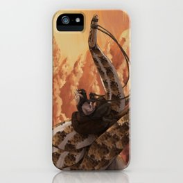 dino-rider iPhone Case
