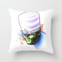 jojo Throw Pillows featuring Mojo by Creadoorm