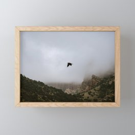 Free as a bird flying through the mountains, Big Bend - Landscape Photography Framed Mini Art Print