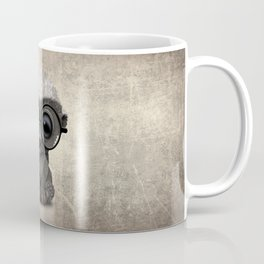 Cute Nerdy Honey Badger Wearing Glasses Coffee Mug