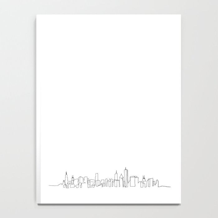 Chicago Skyline Drawing Notebook