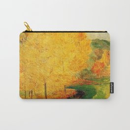 Classical Masterpiece 'By the Stream - Autumn' by Paul Gauguin Carry-All Pouch