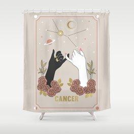 Cancer Zodiac Series Shower Curtain