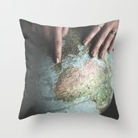 spain Throw Pillows featuring Spain by Haley Marshall Photography