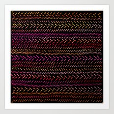 FUNKY RHYTHM - Collab Art with Sreetama Ray, Bright Bold Fun Pattern Collaboration Piece Art Print