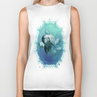 dolphins Biker Tanks featuring Dolphins by Lynne Hoad