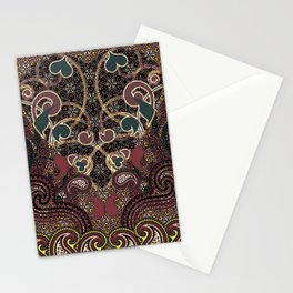 Flaming Hearts Stationery Cards