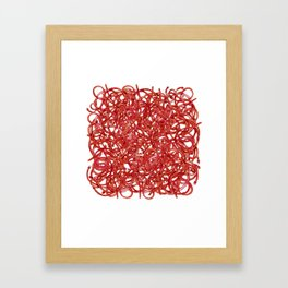 POP ART- RED CABLE Framed Art Print