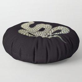 Snake's Charm in Black Floor Pillow