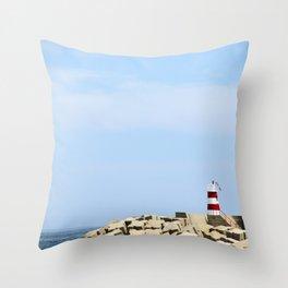 Sea Blocks Throw Pillow