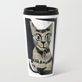 Newspaper Cat Travel Mug
