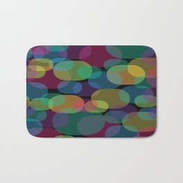 Oval Abstract Pattern Bath Mat