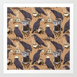 Corvids & Coffee Art Print