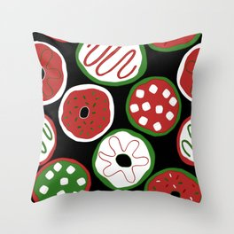 Christmas Donuts Pattern Throw Pillow
