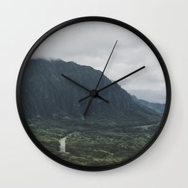 Through the Green Mountain - Hawaii Wall Clock