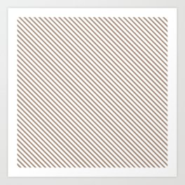 Warm Taupe Stripe Art Print