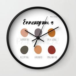Enneagram 9 Wall Clock