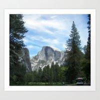 yosemite Art Prints featuring Yosemite by Angela McCall