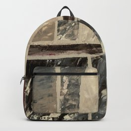 Cool Black Painting Charcoal Black Abstract Canvas Painting Art Print Backpack