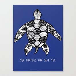 Sea Turtles for Safe Sex Canvas Print
