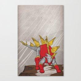 Stegolossus - Superhero Dinosaurs Series Canvas Print