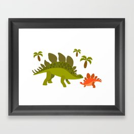 Dinos - Mom and baby Framed Art Print