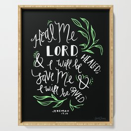 Heal Me Lord Serving Tray