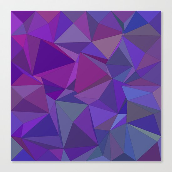 Chaotic purple tiles Canvas Print