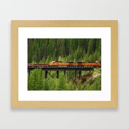 BNSF Going Over Goat Lick Creek Framed Art Print